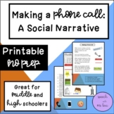 Making a Phone Call: A Social Script