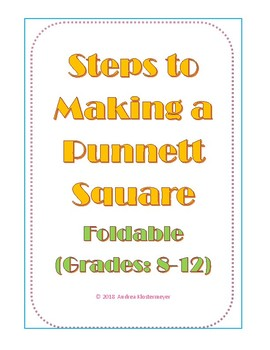 Making a Punnett Square - Foldable