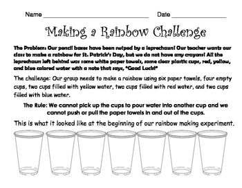 Making a Rainbow Challenge Experiment