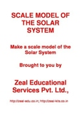 Making a Scale Model of the Solar System