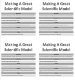 Making a Scientific Model Guide/Checklist