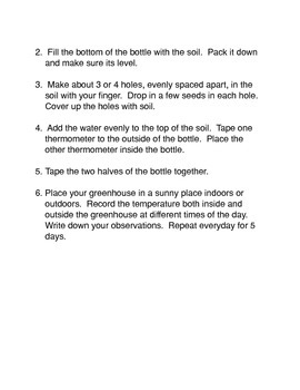 Making a Simple Greenhouse Common Core Reading and Writing Activity