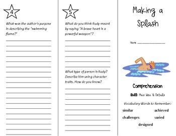 Making a Splash Trifold - Treasures 4th Grade Unit 2 Week 3 (2011)