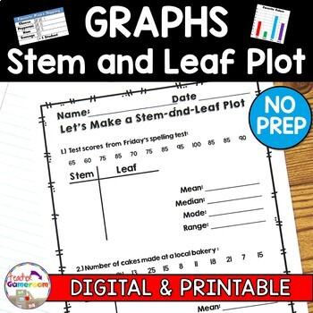 Making a Stem and Leaf Plot  with Mean, Mode, Median, Range Worksheet