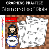 Making a Stem and Leaf Plot  with Mean, Mode, Median, Range Worksheet