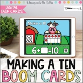 Making a Ten BOOM Cards   Distance Learning   Digital Task Cards