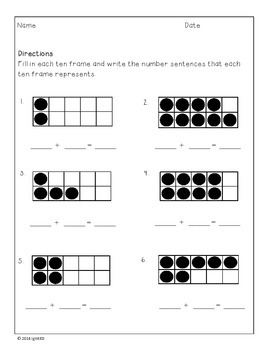 Making a Ten Strategy- Ten Frames and Number Bonds
