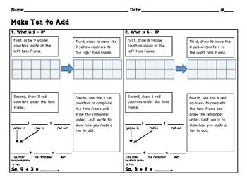 Making a Ten to Add Journal/breakdown