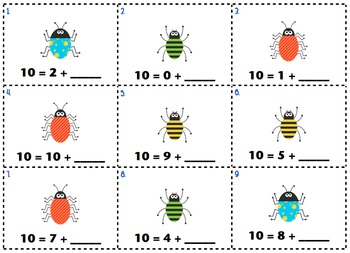 Making a Ten with Bugs - Common Core Standard 1.OA.6