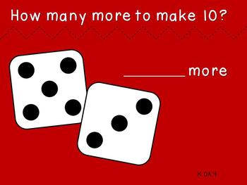 Make a Ten with Dice (Kindergarten-K.OA.4)