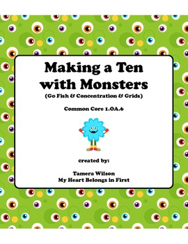 Making a Ten with Monsters:  Common Core 1.OA.6
