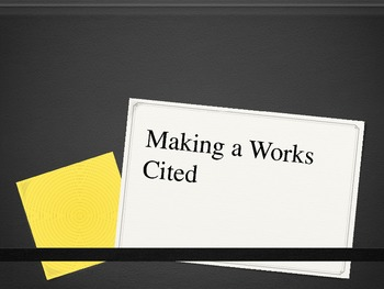 Making a Works Cited