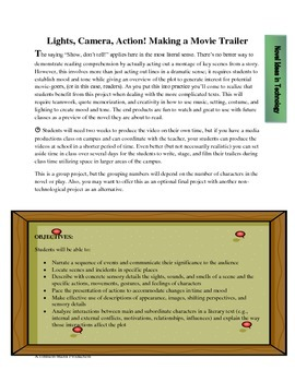 Making a movie trailer: Project assessment for reading