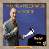 Making a presentation in English – Business English - ESL adult conversation