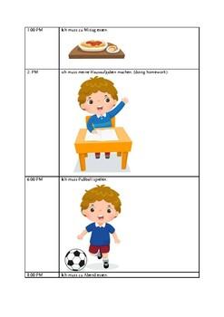 Making a schedule in German