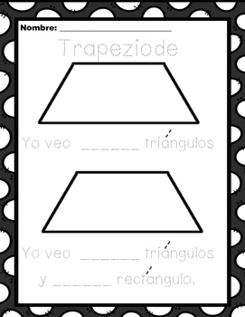 Making a trapezoid/ Hacer un trapeziode