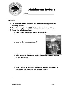 Making an Iceberg-a Hands-on Titanic Experiment!