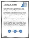 Making an Income PLUS Enrichment Activity-Financial Litera