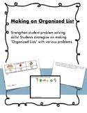Making an Organized List