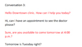 Making an appointment-audio 2