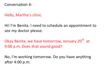 Making an appointment-dialogue