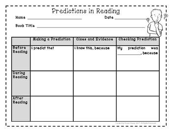 Reading Predictions Graphic Organizer
