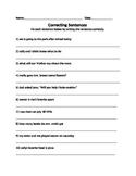 Making and Correcting Sentences