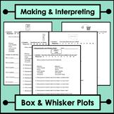 Making and Interpreting Box and Whisker Plots