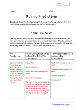 Making and Revising Predictions Package