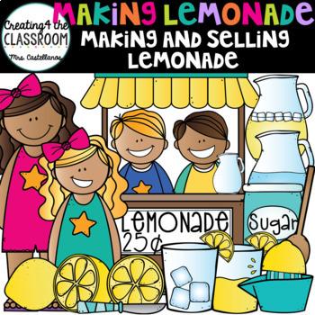 Making and Selling Lemonade {Lemonade Clip Art}