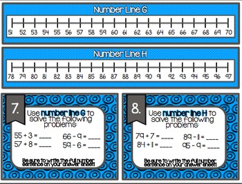 Making and Using a Number line Task Cards. 2.MD.6 Common Core Aligned!