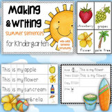 Making and Writing Summer Sentences for Kindergarten {vocab & sentence work}