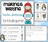 Making and Writing Winter Sentences for Kindergarten {vocab & sentence work}