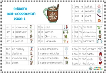 Making and Writing Winter Sentences for Kindergarten ...