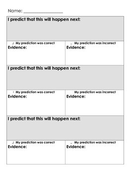 Making and checking predictions using evidence!