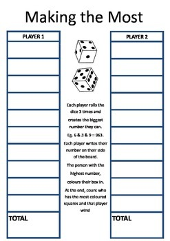 Making biggest and smallest number game