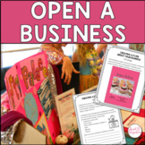 PROJECT BASED LEARNING ECONOMICS ACTIVITIES - ENTREPRENEURSHIP Grades 3-5