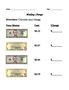 Making change from $5