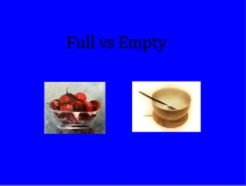 Making comparisons Full vs Empty Flipchart