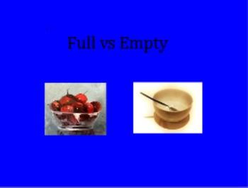 Making comparisons Full vs Empty Flipchart