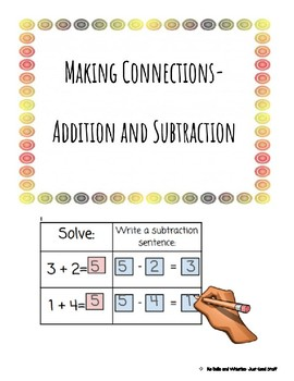 Making connections- addition and subtraction