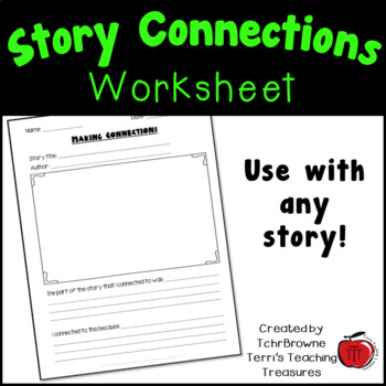 Making Connections To Stories By Tchrbrowne Teachers Pay Teachers