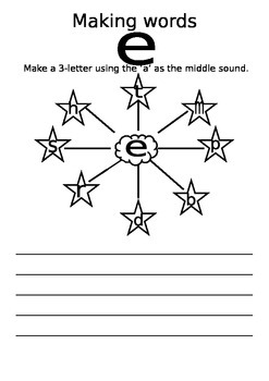 Making e short vowels words