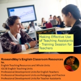 Making effective use of Teaching Assistants - training pac