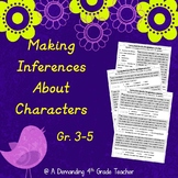 Making inferences about character's emotions and traits; R.L.3.3;4.3;5.1