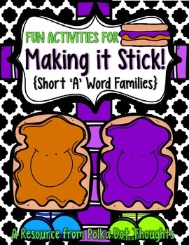 """Making it Stick! {Fun Activities for Short """"A"""" Word Families}"""