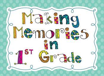 Making memories in.....grade