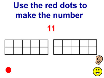 Making numbers with 10 Frames using VOCAL Dots