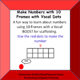 Making numbers with 10 Frames using VOCAL Dots Promethean Board Activity