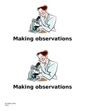 Making observations with my senses reader
